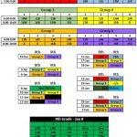 Dec 29 – Feb 2 Practice Schedule